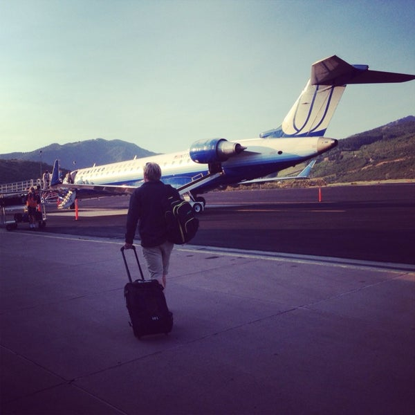 Photo taken at Aspen/Pitkin County Airport (ASE) by Dave A. on 8/14/2013