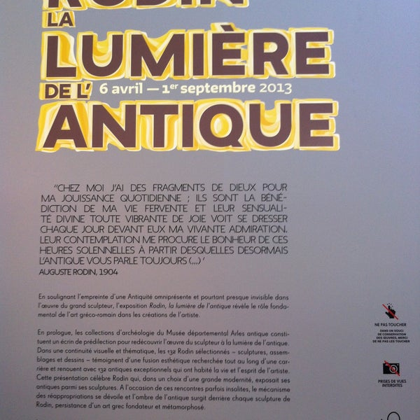 Photo taken at Musée de l'Arles antique by Math O. on 4/18/2013