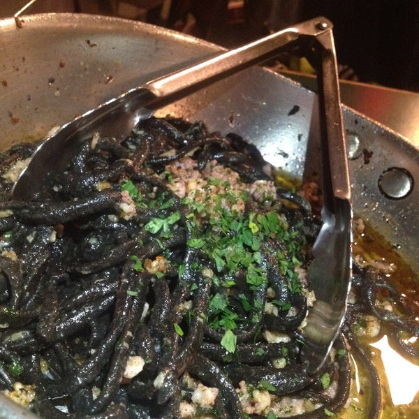 Try the squid ink aglio olio pasta! Cash only!