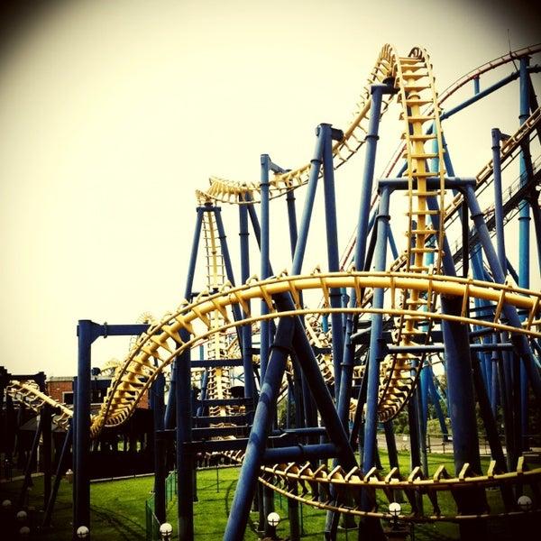 Photo taken at Six Flags by Estefi E. on 3/30/2013