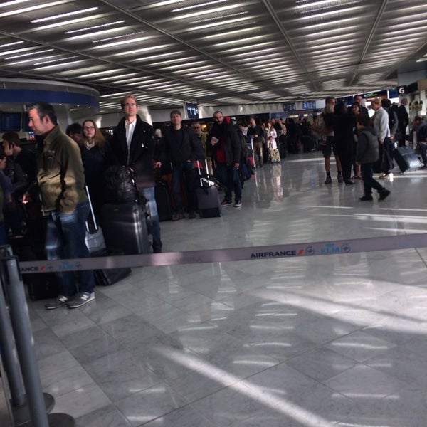 Photo taken at Aéroport de Paris-Orly (ORY) by Khadija B. on 4/14/2014
