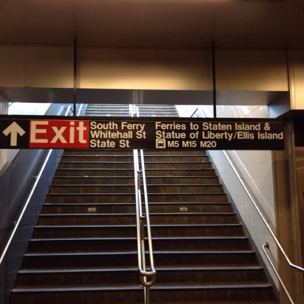 Photo taken at MTA Subway - South Ferry (1) by K on 12/7/2013