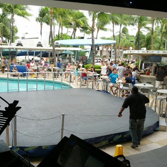 Photo taken at Clevelander South Beach Hotel and Bar by Quintyne S. on 10/14/2012