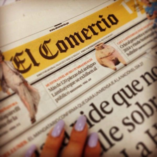 Photo taken at El Comercio by Claudia H. on 1/22/2014