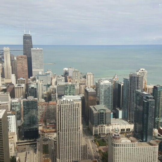 Photo taken at Aon Center by Betty on 10/17/2015