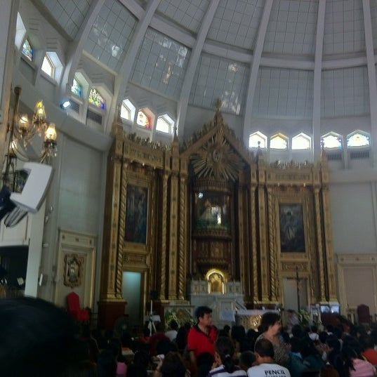 Photo taken at National Shrine of Our Lady of Peace and Good Voyage (Antipolo Cathedral) by Marge E. on 11/4/2012