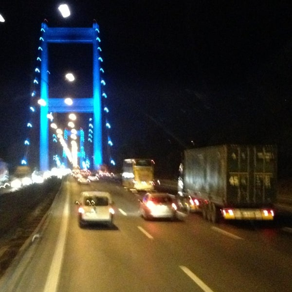 Photo taken at Fatih Sultan Mehmet Bridge by Perihan S. on 7/12/2013