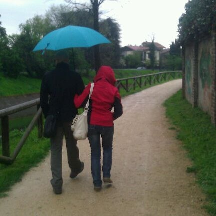 Photo taken at Villa Visconti Borromeo Litta by Claudio F. on 4/21/2013