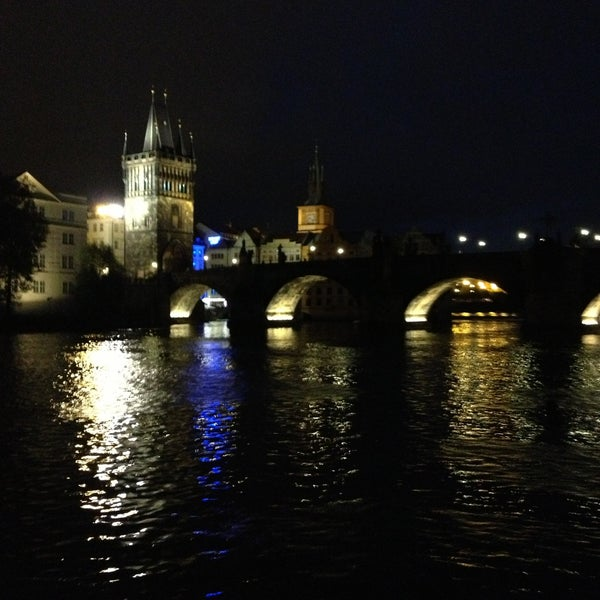 Photo taken at Charles Bridge by Murat A. on 5/12/2013