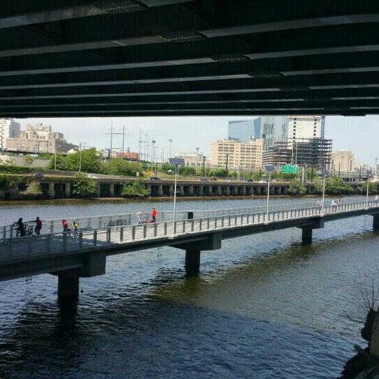 Photo taken at South Street Bridge by Burcin O. on 5/25/2015