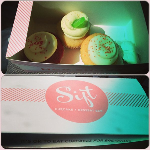 Photo taken at Sift Cupcake & Dessert Bar by Veronica R. on 7/7/2013