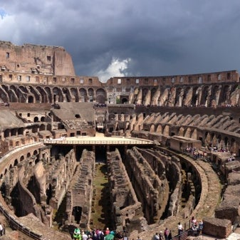 Photo taken at Piazza del Colosseo by Olya T. on 6/4/2013