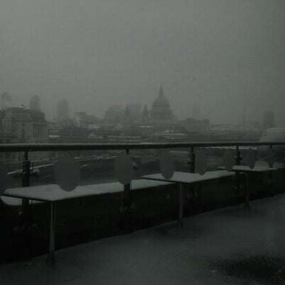 Photo taken at OXO Tower Brasserie by Clare B. on 1/18/2013