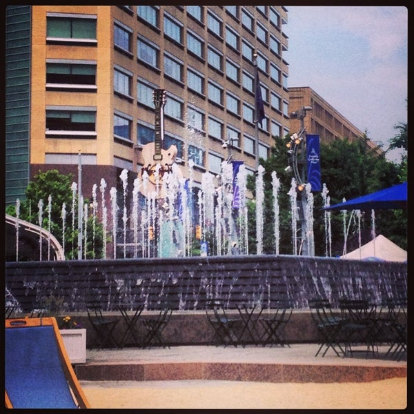 Photo taken at Campus Martius Park by Tiffany K. on 6/22/2013