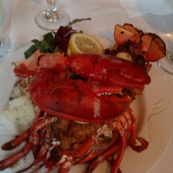 The stuffed lobster was amazing!