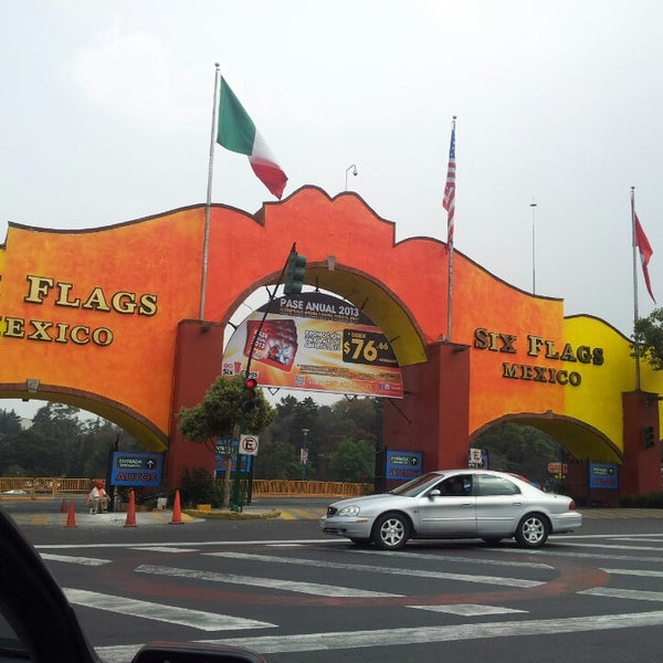 Photo taken at Six Flags México by Joan manuel L. on 4/5/2013
