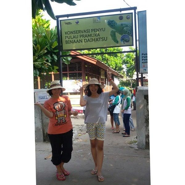 Photo taken at Pulau Pramuka by Elizabeth D. on 5/24/2015