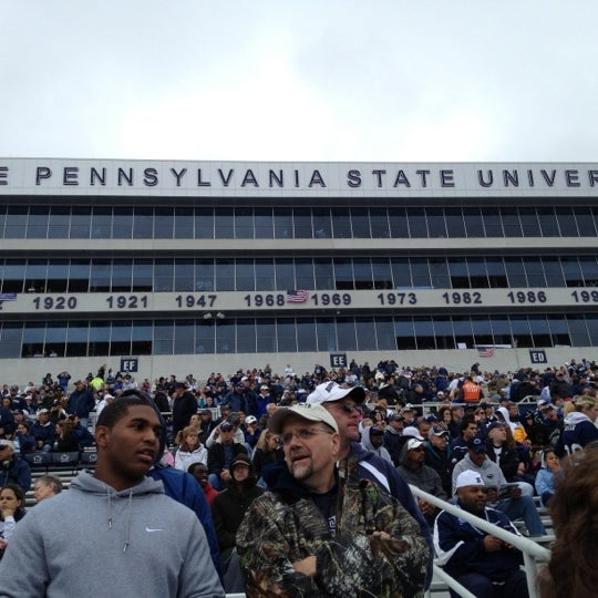 Photo taken at Beaver Stadium by Nick R. on 10/6/2012