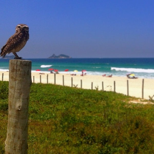 Photo taken at Praia da Barra da Tijuca by Ale van Beeck on 2/21/2013