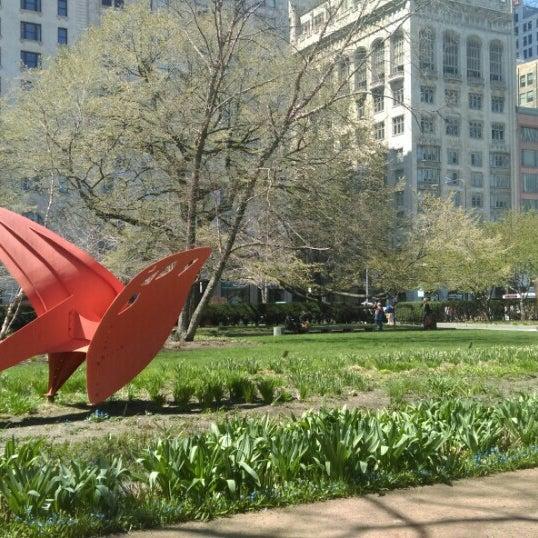 Photo taken at Sculpture Garden - Art Institute of Chicago by Maria on 4/16/2016