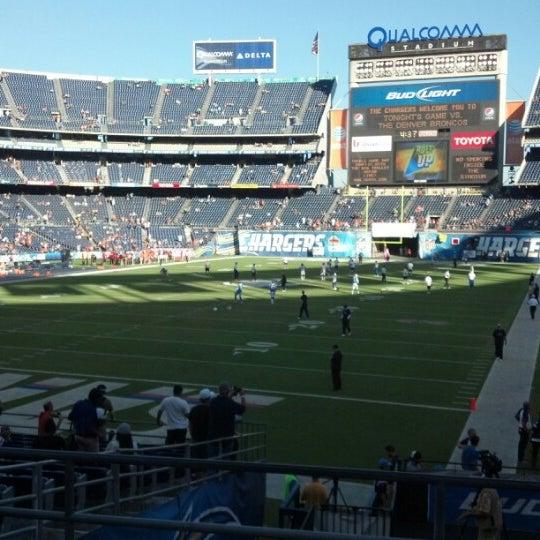 Photo taken at Qualcomm Stadium by Tania P. on 10/15/2012