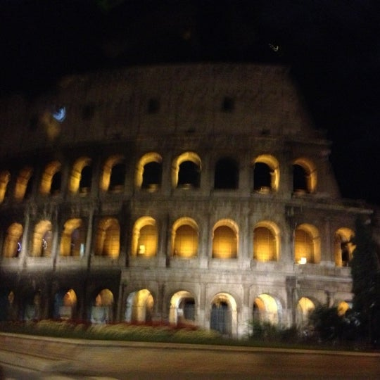 Photo taken at Piazza del Colosseo by Chiara D. on 10/29/2012