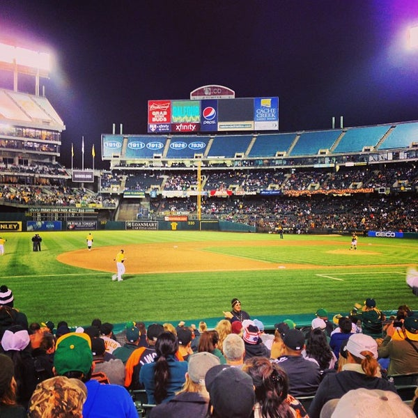 Photo taken at O.co Coliseum by Ivy C. on 5/29/2013
