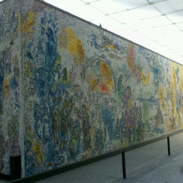 """Photo taken at Chagall Mosaic, """"The Four Seasons"""" by Mio O. on 7/14/2013"""