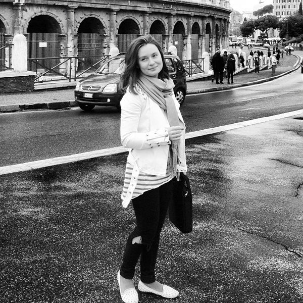 Photo taken at Piazza del Colosseo by Ksenia B. on 1/10/2013