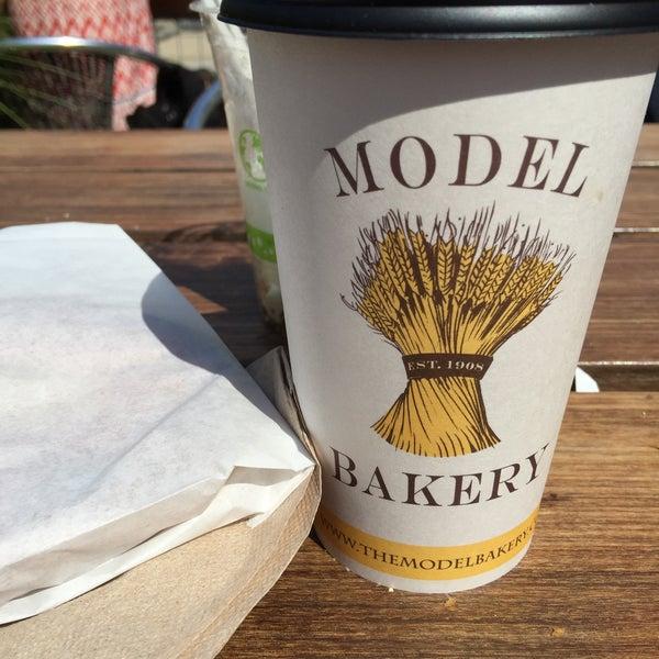Photo taken at Model Bakery by Kirsten Z. on 8/1/2015