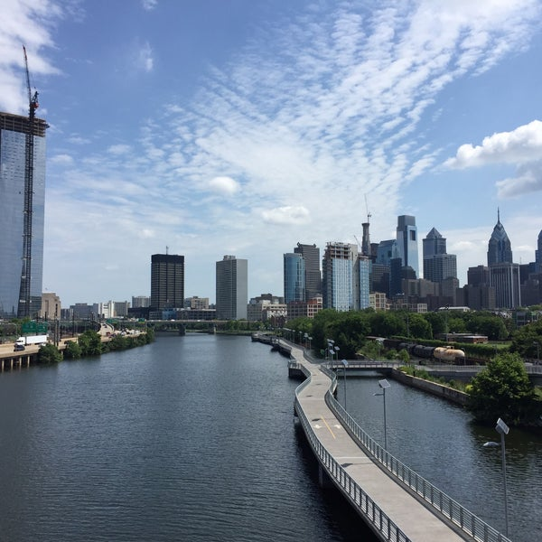 Photo taken at South Street Bridge by Andrea B. on 7/15/2016