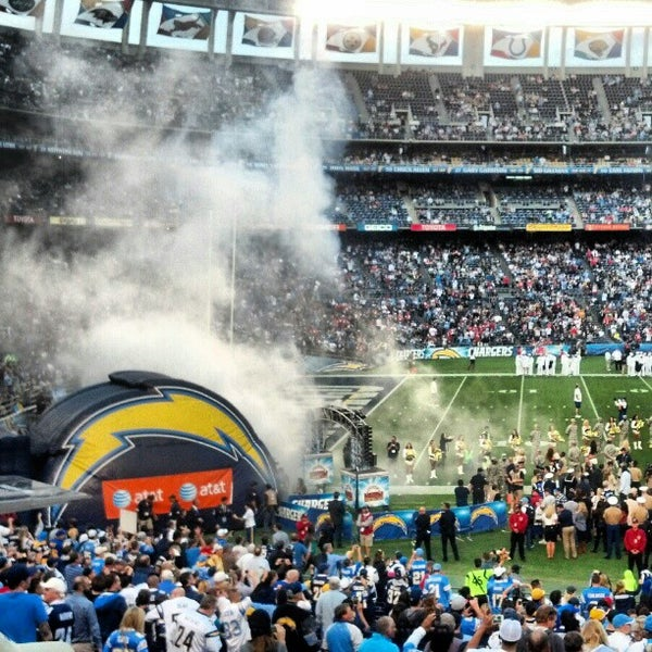 Photo taken at Qualcomm Stadium by Vince O. on 11/4/2012