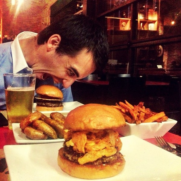 Photo taken at Umami Burger by Ed on 10/11/2012