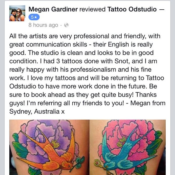 Photo taken at Tattoo O'd studio by Boho M. on 6/4/2015