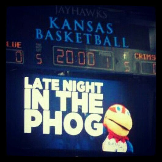 Photo taken at Allen Fieldhouse by Meghann M. on 10/13/2012
