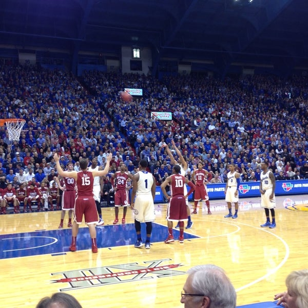 Photo taken at Allen Fieldhouse by Lindsey D. on 2/25/2014