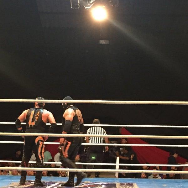 Photo taken at Arena Adolfo Lopez Mateos by Greco S. on 4/2/2015