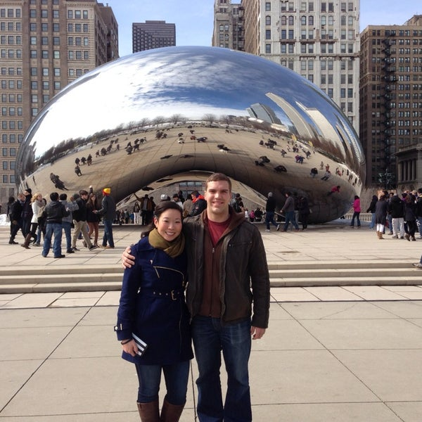 Photo taken at Cloud Gate by Leah C. on 3/9/2014