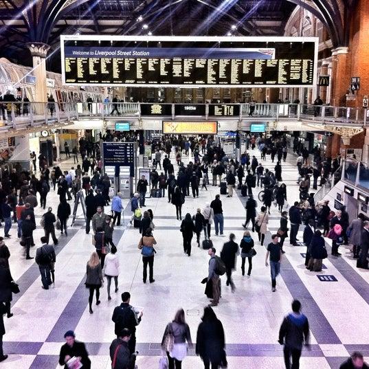 Photo taken at London Liverpool Street Railway Station (ZLS) by Avi G L. on 10/25/2012