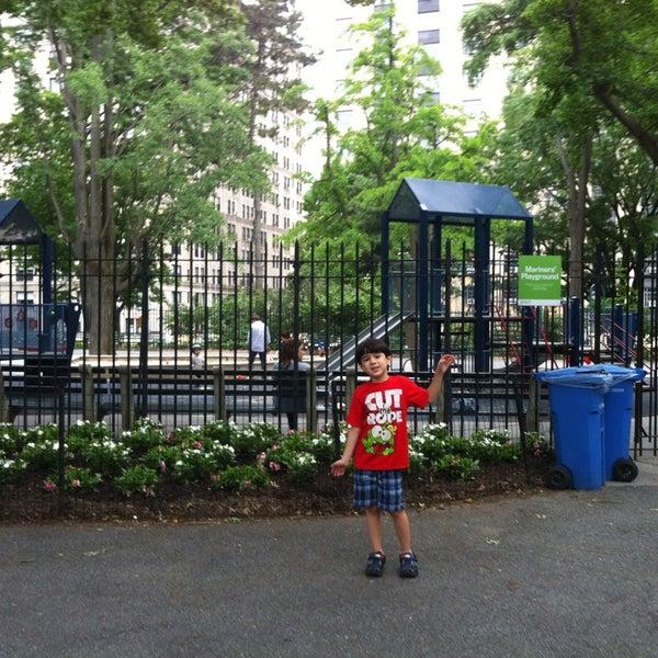 Photo taken at Central Park - Mariners' Gate Playground by Zelma on 6/6/2013