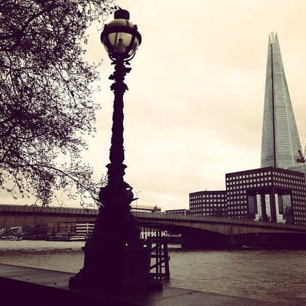 Photo taken at London Bridge by Roger C. on 12/28/2012