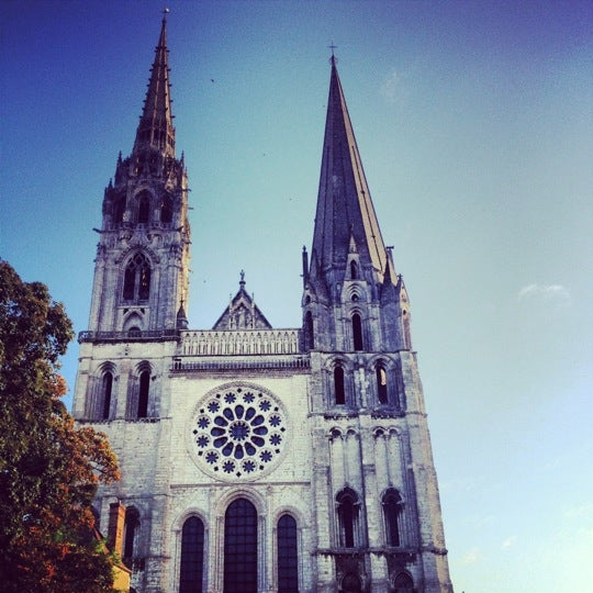Photo taken at Cathédrale Notre-Dame de Chartres by bulat on 10/12/2012