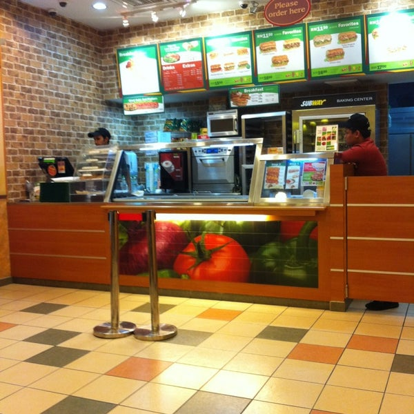 Photo taken at Subway by Shahzreen on 1/14/2013
