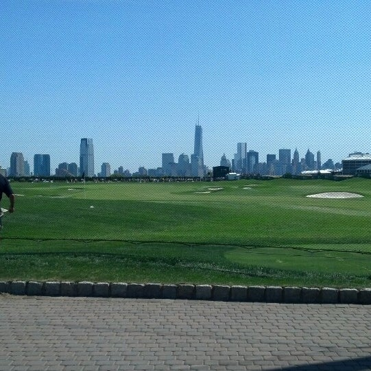 Photo taken at Liberty National Golf Course by Stacey G. on 8/25/2013