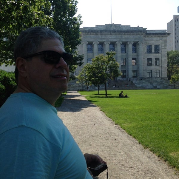 Photo taken at Harvard Medical School Quadrangle by Sonia B. on 9/11/2013