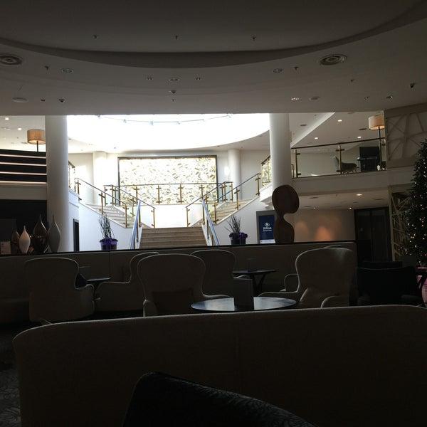 Photo taken at Hilton Munich Park by dru on 12/22/2014