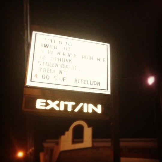 Photo taken at Exit/In by Adrienne F. on 9/30/2012