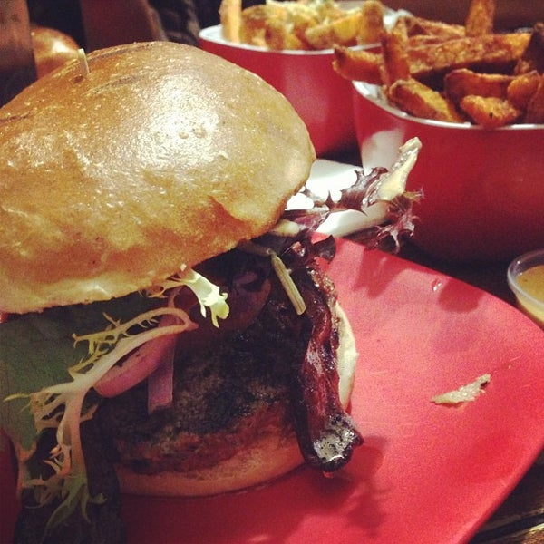 Photo taken at G Burger by Ron L. on 12/16/2012