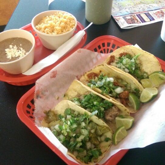 Photo taken at Tia Cori's Tacos by Chris C. on 7/21/2014