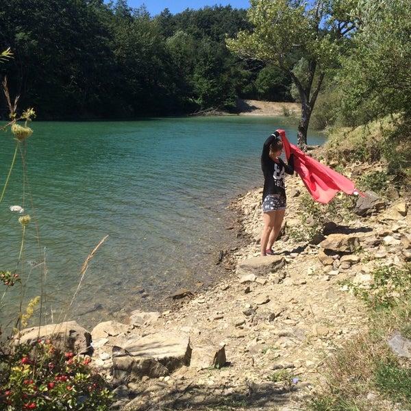 Photo taken at Lago di Suviana by Daniel F. on 8/18/2014